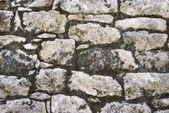 Closeup of ancient stone wall texture of Mayan Coba Ruins, Mexico Stock Photography
