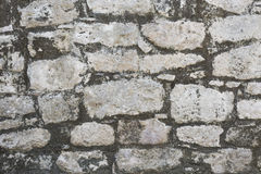 Closeup of ancient stone wall texture of Mayan Coba Ruins, Mexico Royalty Free Stock Photography