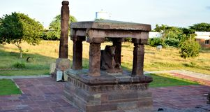 Closeup of Ancient Temple In India stock photo