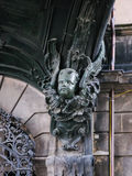 Closeup of angel statue on the wall Royalty Free Stock Photography