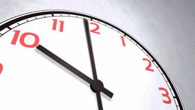 Closeup animation of a wall clock stock video