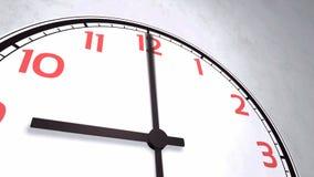 Closeup animation of a wall clock stock video