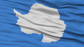 Closeup Antarctica Flag. Waving in the Wind, High Resolution royalty free illustration