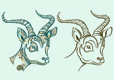 Closeup antelope with ornament pattern Royalty Free Stock Photography
