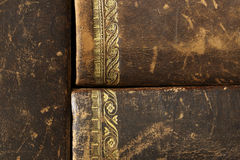 Closeup of antique books Royalty Free Stock Photos