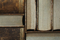 Closeup of antique books Stock Photography