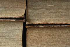 Closeup of antique books Stock Images