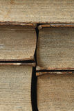 Closeup of antique books Royalty Free Stock Images