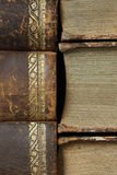 Closeup of antique books Royalty Free Stock Photo