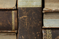 Closeup of antique books Royalty Free Stock Photography