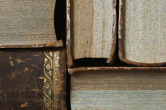 Closeup of antique books Stock Image