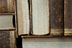 Closeup of antique books Stock Photo