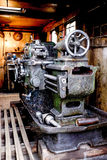 Closeup of an antique cast iron machinery Royalty Free Stock Photography