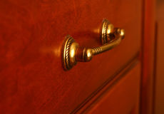 Closeup of antique handle. Stock Photo