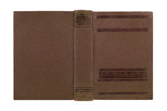 Closeup of antique leather book cover Stock Images