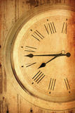 Closeup antique old style clock Royalty Free Stock Image