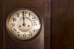 Closeup of an antique pendulum clock Stock Photo