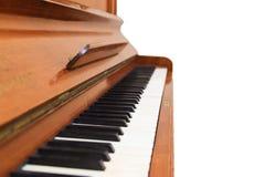 Closeup of antique piano keys Stock Image