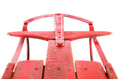 Closeup of an antique red sled Royalty Free Stock Photo