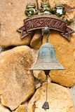 Closeup of antique rusty bell Royalty Free Stock Photos