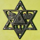 Closeup of antique star of David. Stock Images