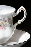 Closeup of an antique teacup Royalty Free Stock Photos