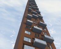Closeup apartment building Royalty Free Stock Images