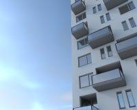 Closeup apartment building Stock Photo