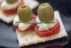 Closeup aperitif tartine Royalty Free Stock Photo