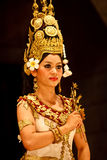 Closeup apsara dancer in traditional costume Stock Photos