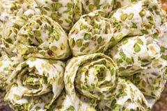 Closeup of arabic sweets. Closeup of delicious arabic sweets. Dubai, United Arab Emirates Stock Photos