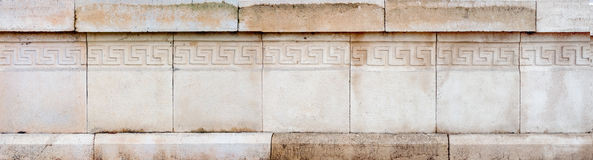 Closeup of architectural ornament on stone wall Stock Images