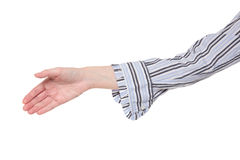 Closeup of arm - handshake Royalty Free Stock Images