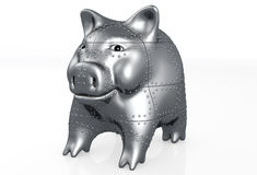 Pig piggy is armored Stock Photography