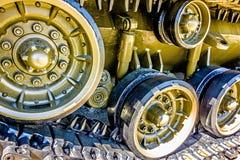 Closeup of an army tank parts Stock Image