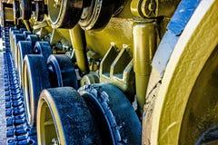 Closeup of an army tank parts Stock Photo