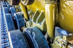 Closeup of an army tank parts Stock Images
