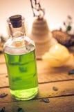 Closeup aromatic massage oil element wellness Stock Photo