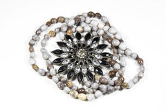 Closeup Arrangement Of Costume Jewelry and Beads Stock Photography