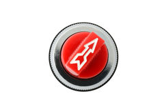 Closeup arrow of selector switch Royalty Free Stock Photography
