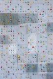 Climbing wall. Closeup of artificial rock climbing wall royalty free stock images