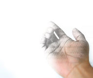 Closeup Artist draw hand gesture Royalty Free Stock Photography