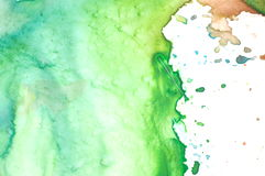 Closeup of artist's watercolor palette Royalty Free Stock Photo