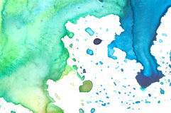 Closeup of artist's watercolor palette Stock Photo