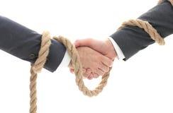 Closeup .the associated handshake business partners. The business concept Stock Photos