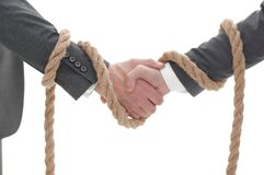 Closeup .the associated handshake business partners. The business concept Royalty Free Stock Image