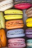 Closeup of Assorted Color Macarons Stock Image