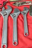 Closeup of assorted work tools Stock Photo