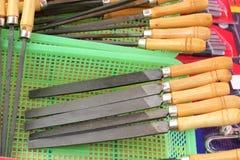 Closeup of assorted work tools Stock Photos