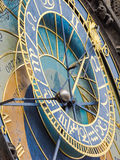 Closeup of the astronomic clock at the town hall of Prague, Czech Republic Royalty Free Stock Photos